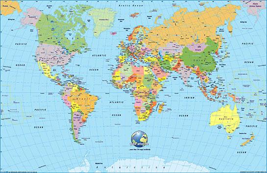 Dunya Haritasi Siyasi Ve Fiziki Harita Dunya Gen Tr